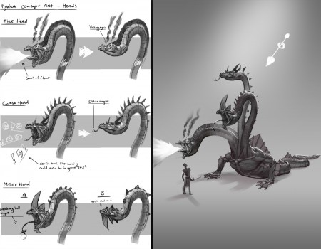 Hydra concept sketches_Get Wrecked